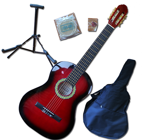 3/4 Size Acoustic Guitar Pack - Red