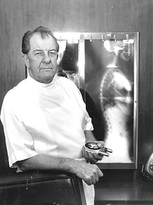 Doctor Gonstead Holding a Nervoscope