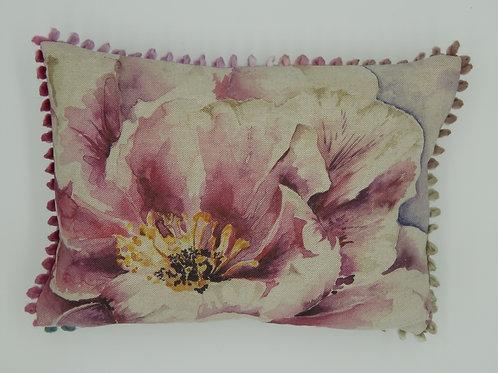 Voyage Pink Peony Arthouse Cushion