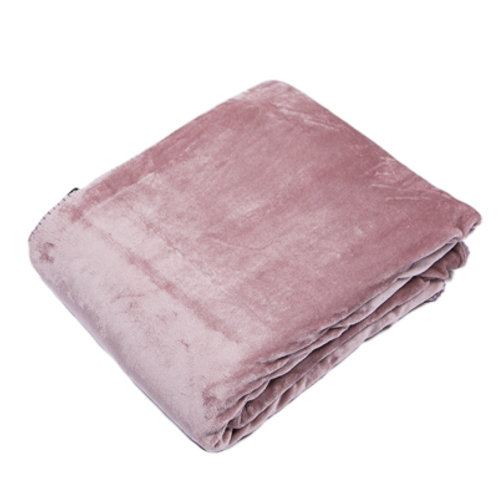 Dusky Pink Fleece Throw