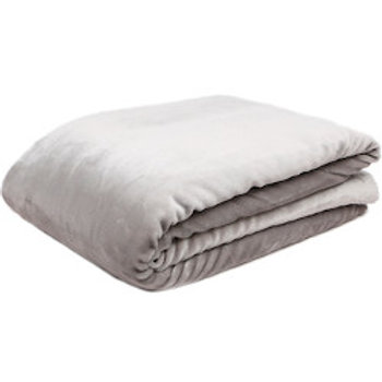 Silver Fleece Throw