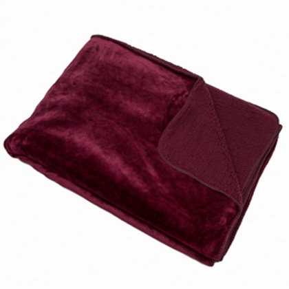 Aubergine Fleece Throw