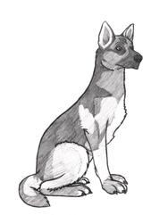 Security Dog [C4M-D.09] Base - German Shepherd