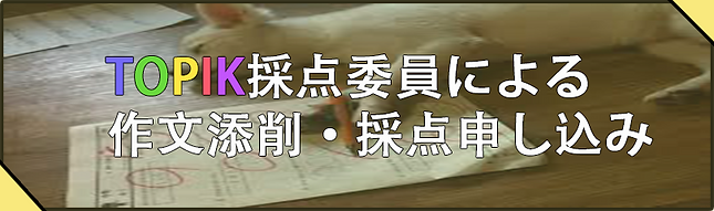 韓国語能力試験(TOPIK)採点添削