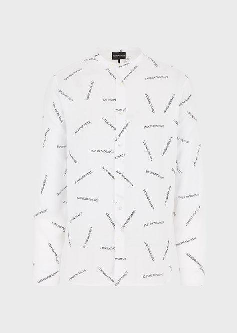 Emporio Armani Beyaz Çok Desenli Erkek Gömlek