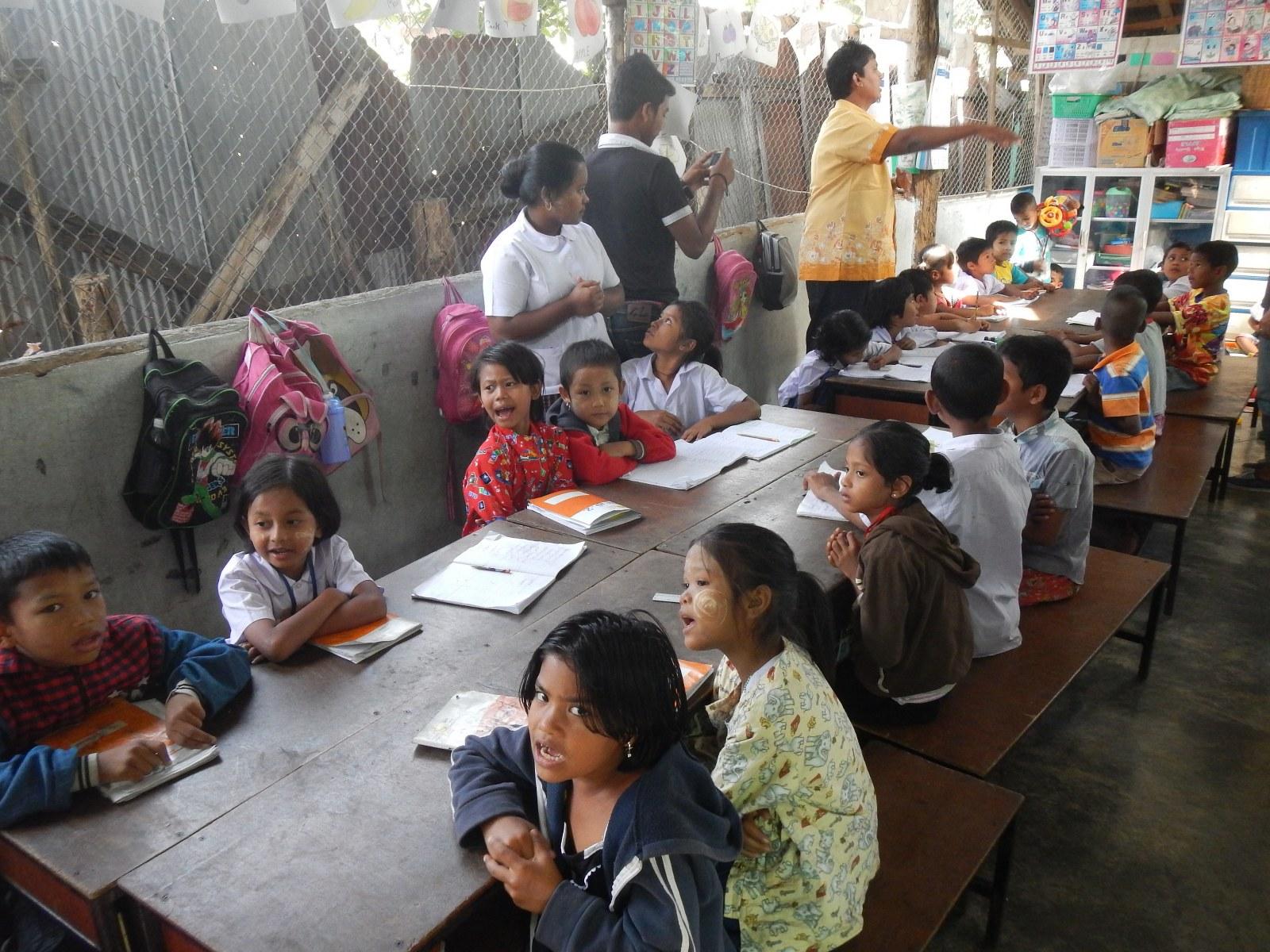 The classroom of Pyo Khin LC