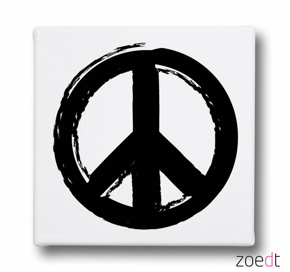 zoedt-canvasdoek-peace-teken-wit-zwart