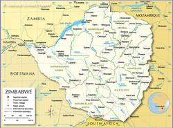 Zimbabwe-administrative-map