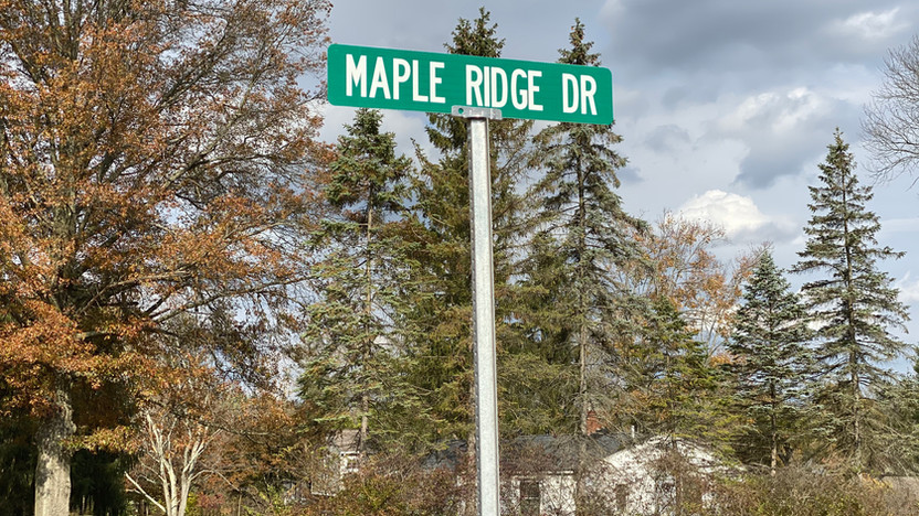 Its official: Maple Ridge Drive!