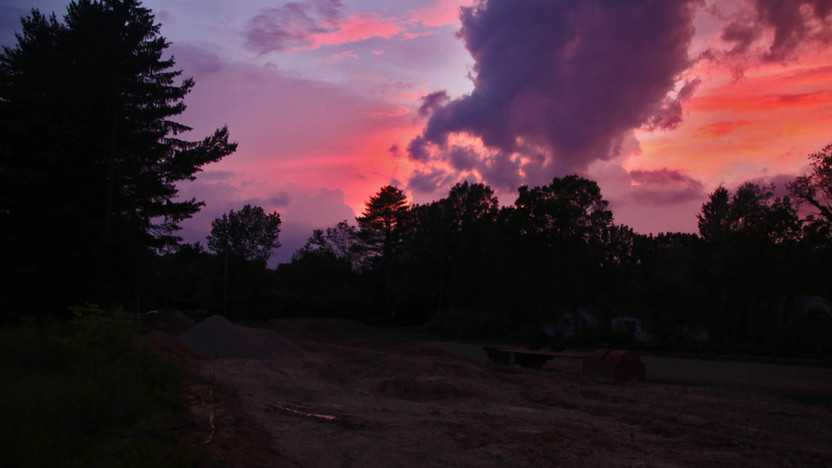 Sunset at Reserve entrance