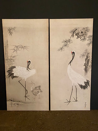 Crane Paintings (pair) [A-A 218]