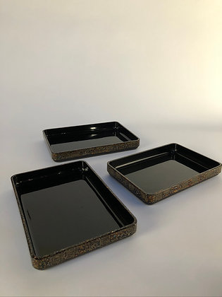 Lacquer Tray Set (set of three) [H-T 179]