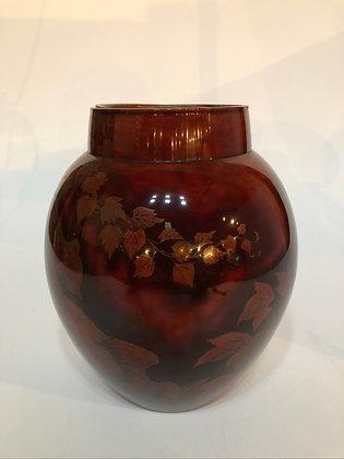 Signed Lacquer Vase [H-V 153]
