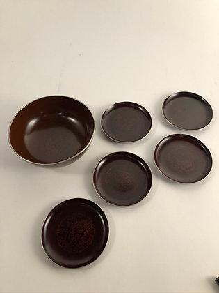 Kashibachi Set (one Bowl/five Plates) [TI-K 140]