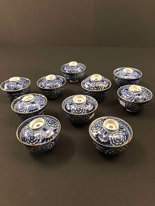 Set of Imari Bowls with lids [DW-B 256]
