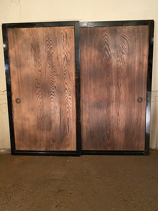 Doors (pair) single panel of Hinoki [AR-D 103]