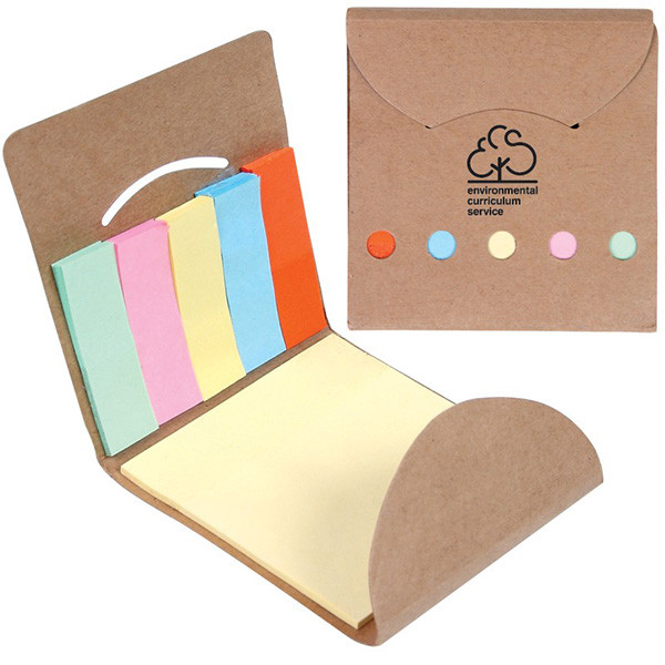 paper folded pack with sticky notes inside