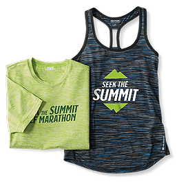 T-shirt and racer back tank with custom designs