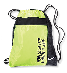 drawstring bag from nike for race day