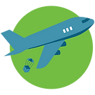 Plane dropping off package representing drop shipping