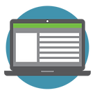 Open laptop representing online order system