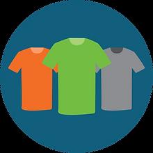 Three T-shirts icon
