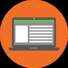 Laptop webstore icon