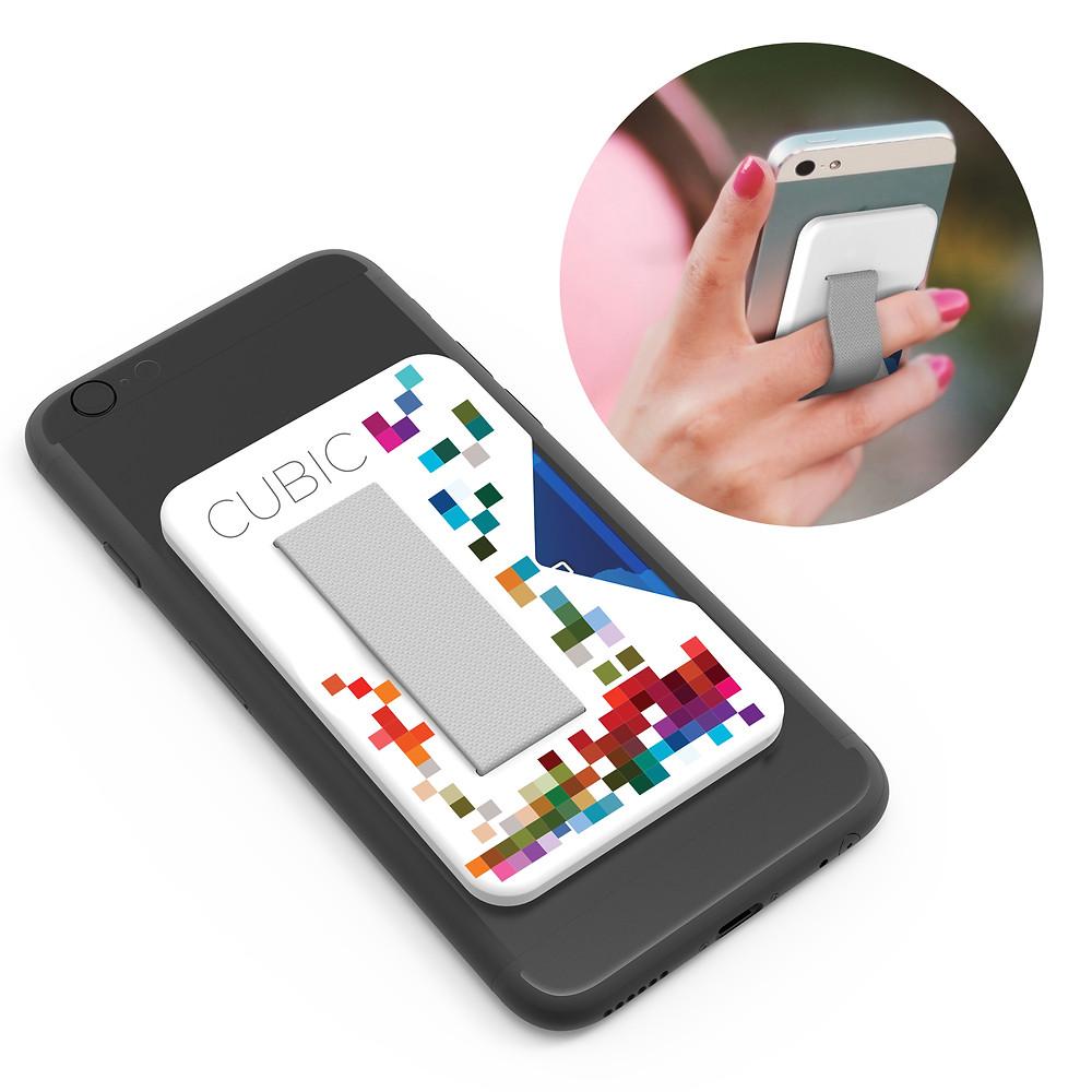 clutch card holder on phone