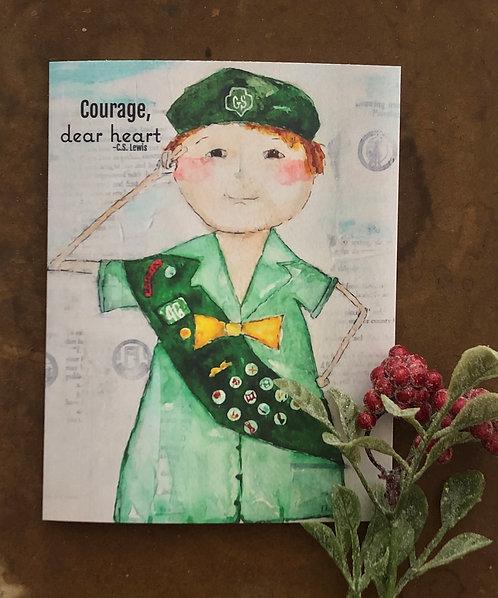 Note Card- Courage, Dear Heart