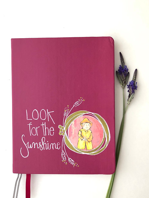 Look For The Sunshine Journal- Raspberry
