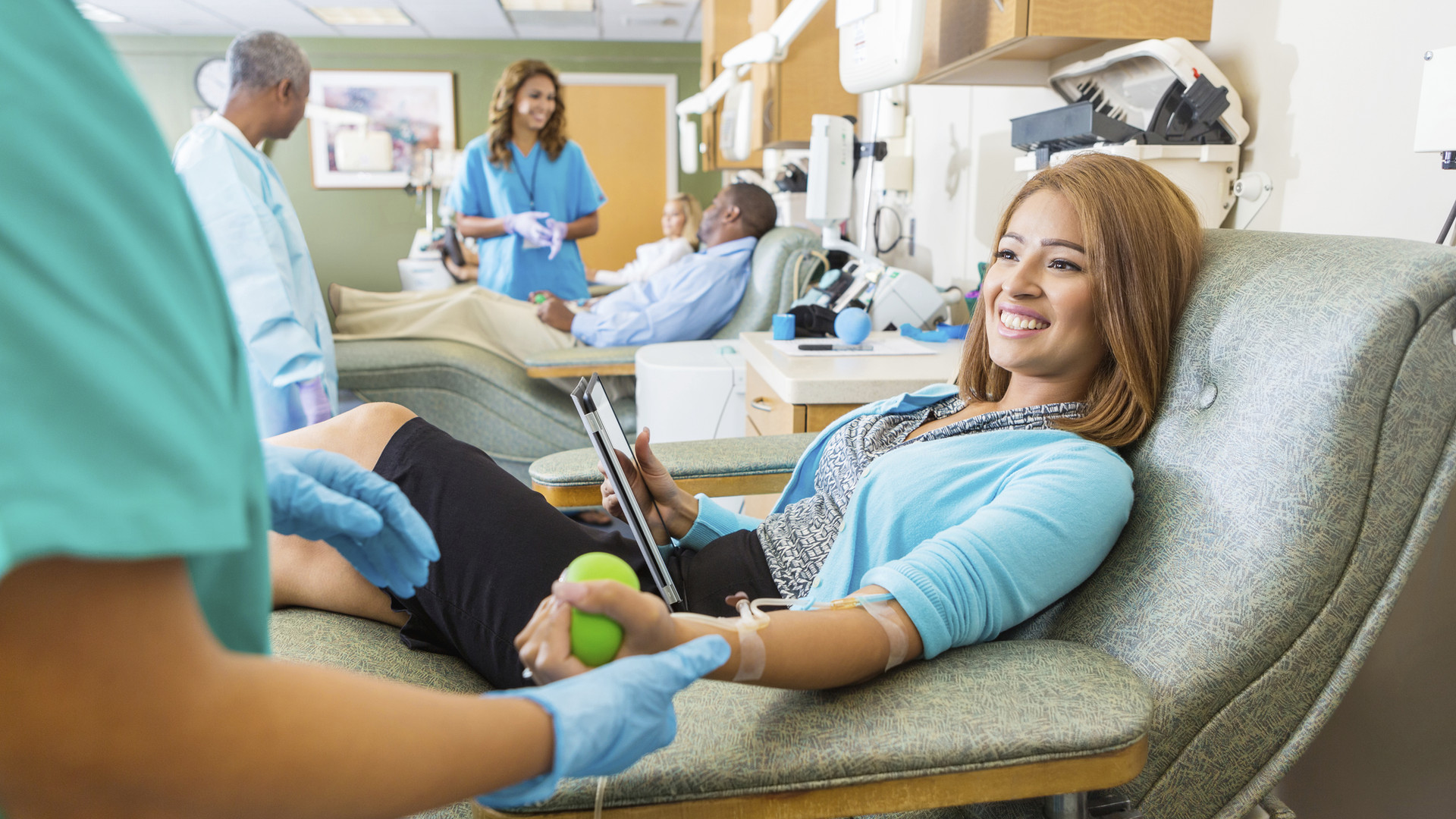 Woman Donating Blood