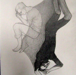 Иллюстрация к рассказу. Бумага, карандаш