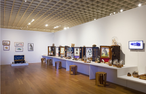"""Sean Miller's work in multiple media spans two rooms at the Florida Prize 2021 exhibition at the Orlando Museum of Art, """"featuring 10 of the most progressive and exciting artists working in Florida today."""""""