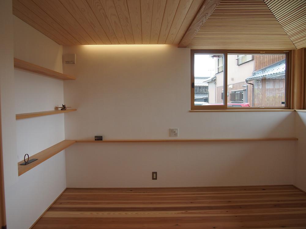 寝室 木の家 滋賀 工務店 間接照明