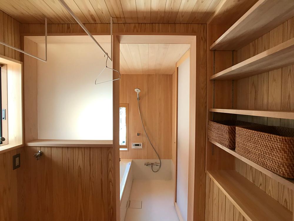 ユーティリティ 脱衣室 木の家 滋賀 工務店