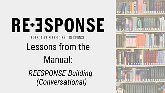 Lessons from the Manual_ REESPONSE Build