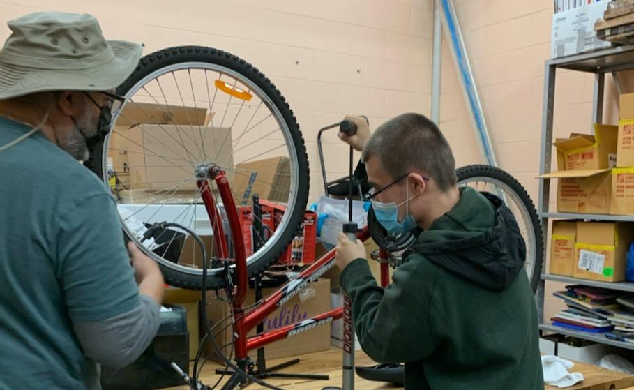 fixing bike west island community