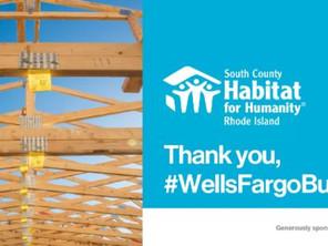 Thank you, Wells Fargo!