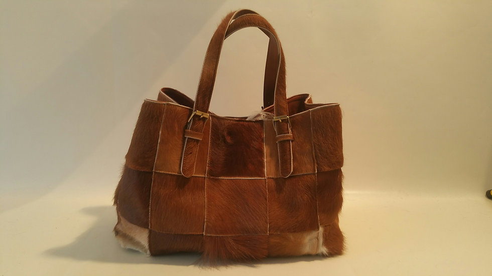 Alice Bag Cowhide Patchwork
