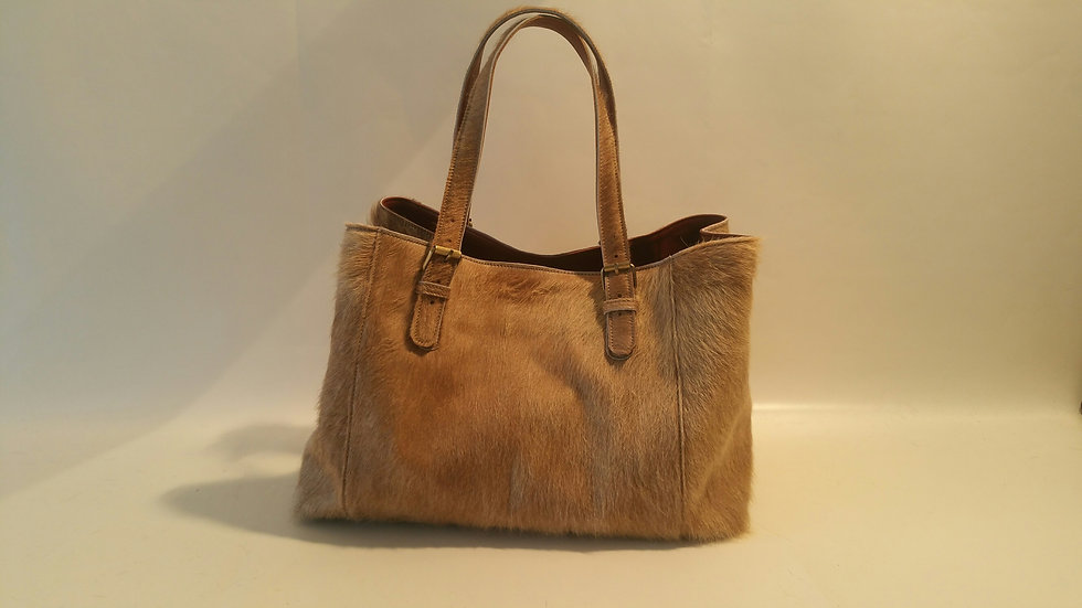 Alice Bag Cowhide LARGE Taupe