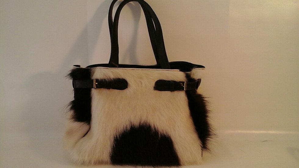 Louise Bag Cowhide Black/White or Brown/White