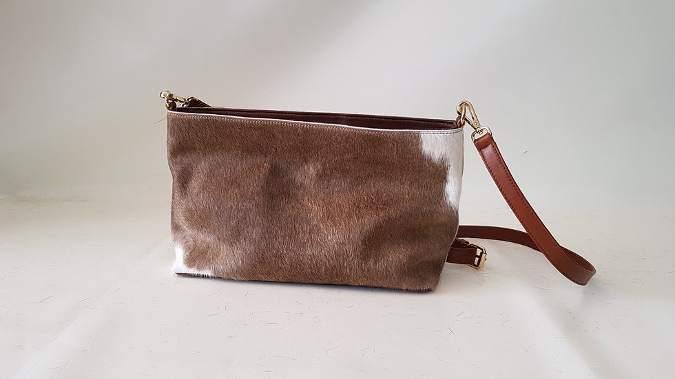 Pauline Bag / Pouch Cowhide Brown or Brown/white