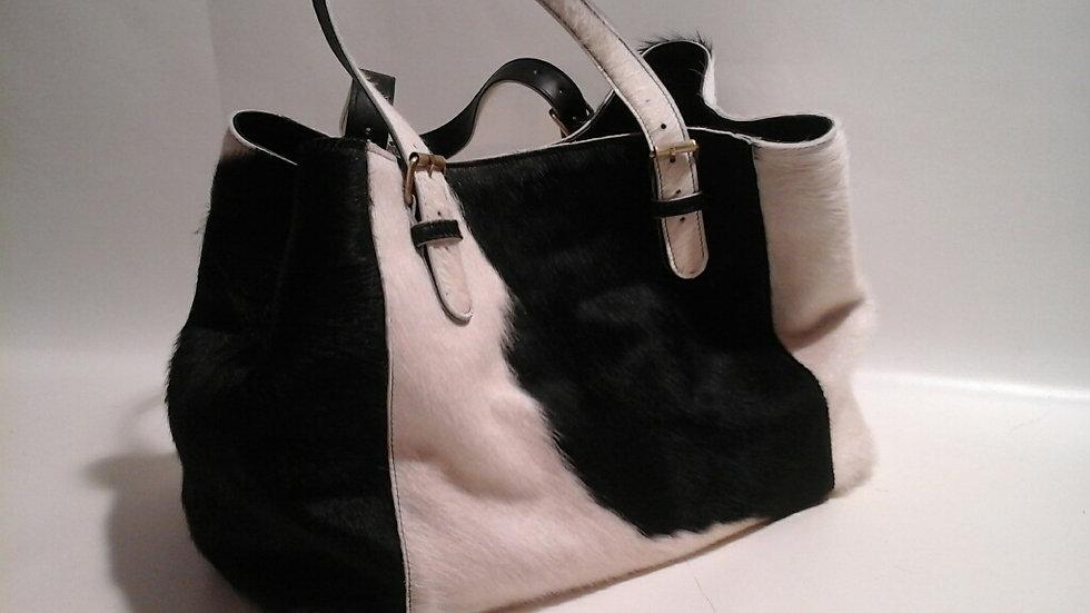 Alice Bag Cowhide LARGE Black & White