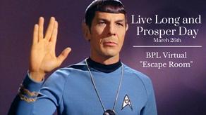 Save Spock in a Virtual Escape Room