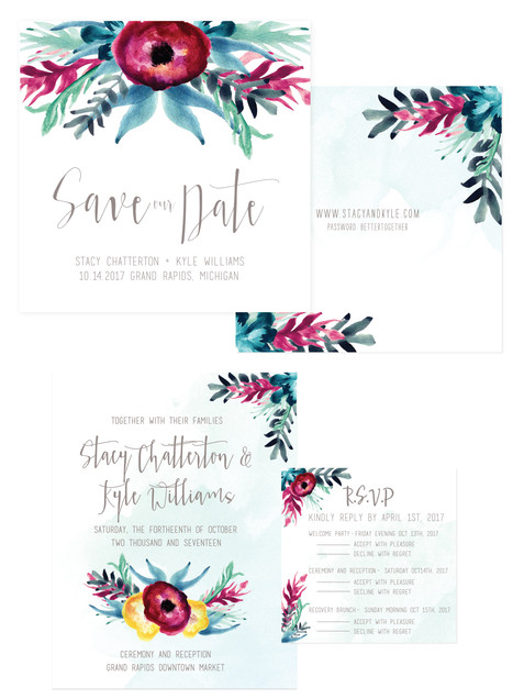 Hand Painted Wedding Invatations
