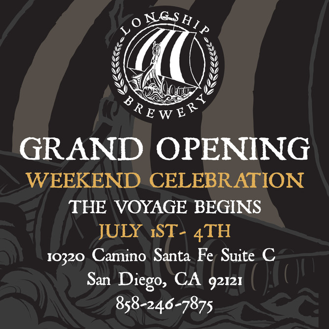 Come Join us at Longship Brewery Grand Opening!
