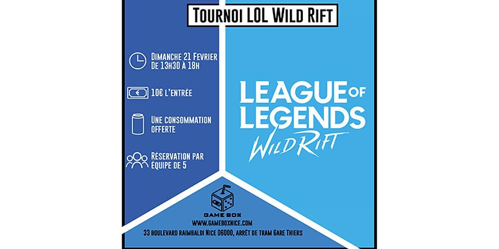 Tournoi League of legend Wild Rift