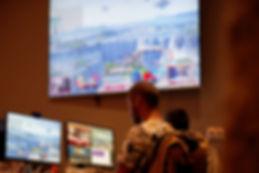 Un streaming d'une partie de jeux à un tournoi esport