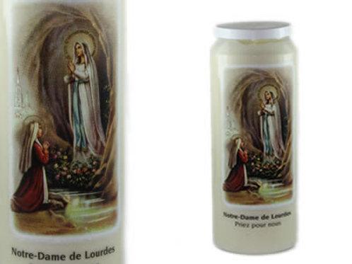 Bougie de Neuvaine Notre Dame de Lourdes