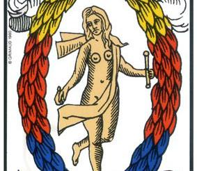 Description de la carte du tarot  (Le Monde ) par Eddy Gaël